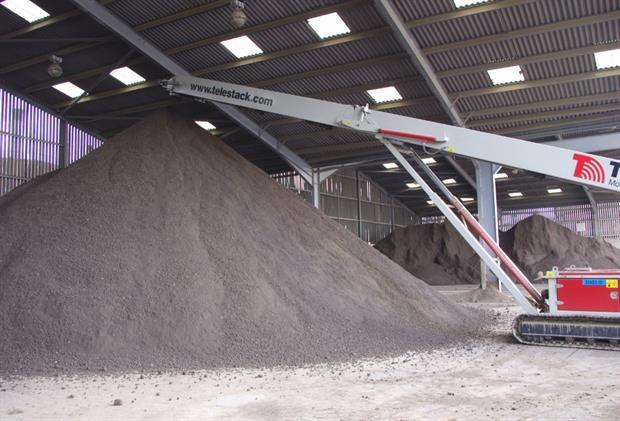British Sugar TOPSOIL's product storage facility at Bury St Edmunds, Suffolk