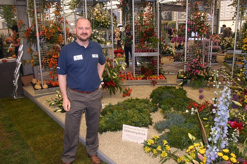 Chris Hartfield with the NFU stand - image:HW