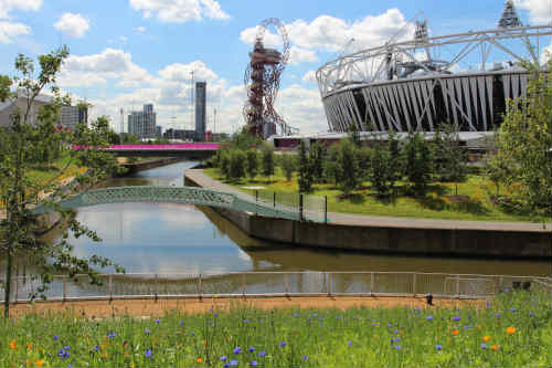 Olympic Park design by LDA Design and Hargreaves, lead landscape architect and masterplanner - image: Peter Neal