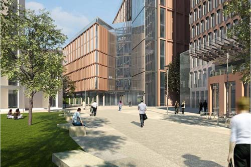 Part of the masterplan for Imperial College London - image: Aukett Fitzroy Robinson