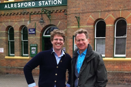 The Watercress Company MD Tom Avery (left) with presenter Michael Portillo - image: The Watercress Company