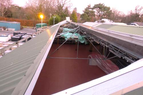 South Downs Nurseries saw half the roof blown off in high winds - image: South Downs Nurseries