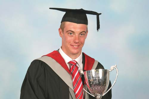 Hong Kong-based greenkeeper Jonathan Wall won Myerscough College best student award - image: Ransomes Jacobsen