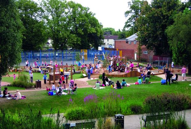 Safe place to play: Abbey Park in Evesham, Worcestershire