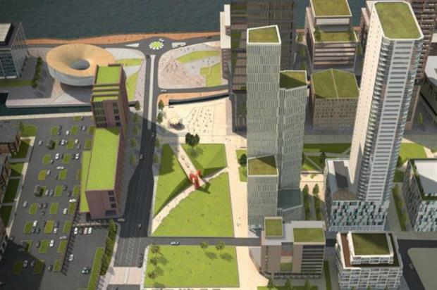 Artist impression of the planned park. Image: Liverpool Waters