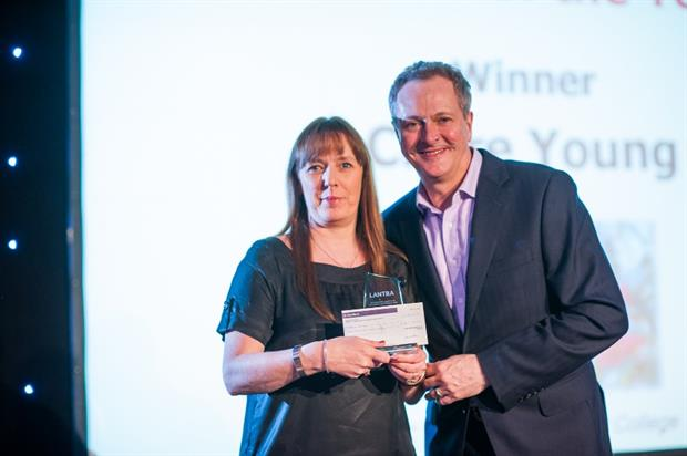 Claire Young, Lantra's Horticulture Learner of the Year winner for 2015, with Nick Nairn. Image: Supplied