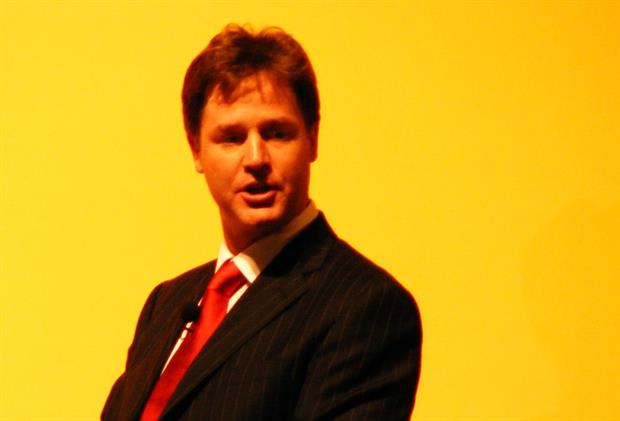 Nick Clegg at an earlier event