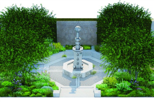 A vision of paradise: Cleve West's Chelsea garden with tree of life panel