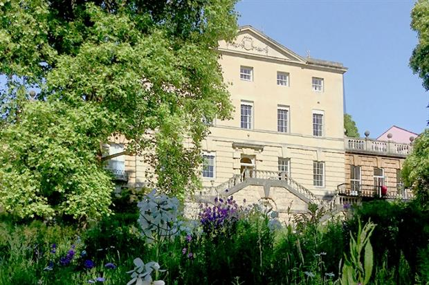 Wildflowers now frame the Georgian mansion. Image: University of Bristol