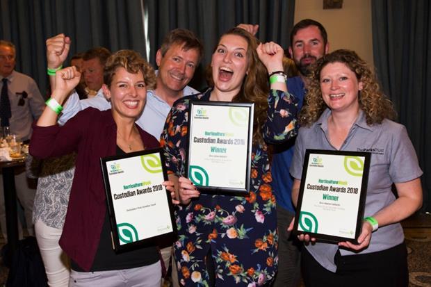 Double winners The Parks Trust, Milton Keynes at last year's Custodian Awards.