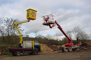 Scanlift 190 (right) and Nissan Cabstar-mounted Niftylift V100. Image: HW