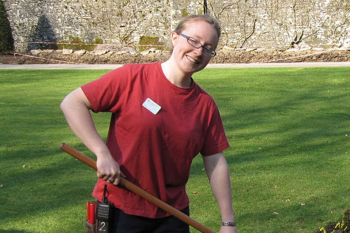 Katie Croft, student gardener, Threave Garden- image: HW