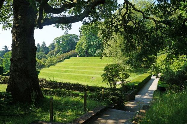 The tiltyard at Dartington Hall Gardens. Image: Dartington Hall Trust