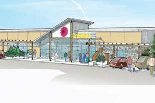 Artist's impression of plans for new Dobbies garden centre in Aberdeen - photo: Dobbies