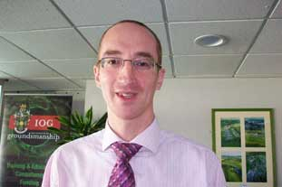 Dr Iain James-Cranfield Uni lecturer in sports surface engineering - photo: HW
