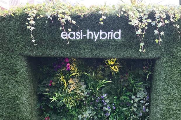 The Easi-Hybrid system on display at RHS Chelsea Flower Show this week. Image: Easigrass