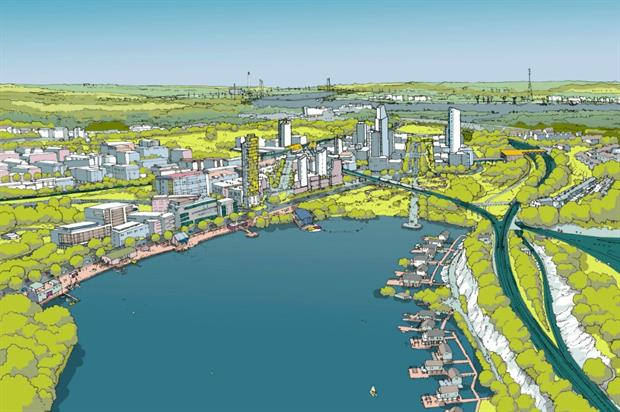 CGI of the vision for Ebbsfleet Garden City. Could there be more under Labour? Image: Ebbsfleet Development Corporation
