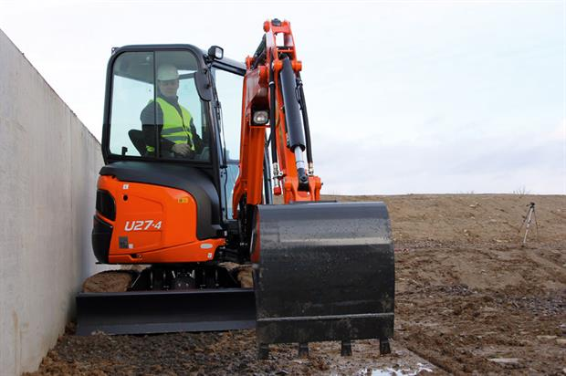 Latest model: compact zero-tail swing mini U27-4 features the largest cab in its class