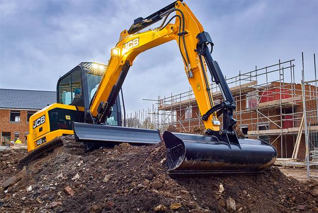 Midi excavator: JCB's 48Z-1 has 100 per cent steel bodywork and a sturdy dipper arm - image: JCB