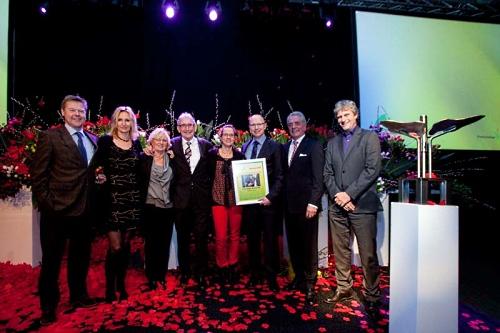 MD Jaap Mazereeuw receives the award for Enza Zaden - image:Enza Zaden