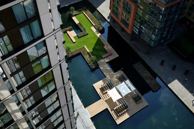 The floating park is London's first. Image: European Land and Property