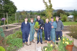Adam Frost with some of his first Acorn Grows students