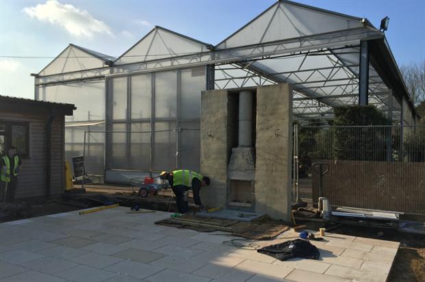 Levelling the land on the Gavin Jones Etoile garden