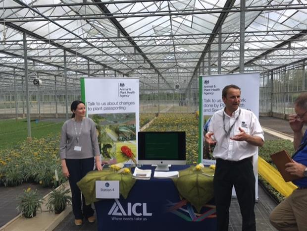 Lucy Carson-Taylor and Ed Birchall at Hort Science Live