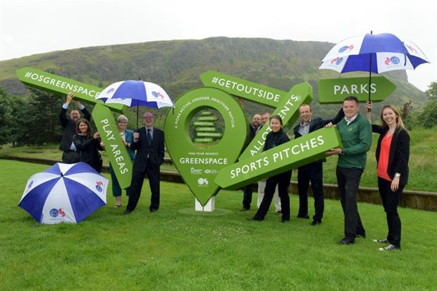 Greenspace Map participants including Greenspace Scotland chief executive Julie Procter