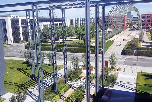 Nurture Landscapes project at Farnborough Business Park - image: BALI