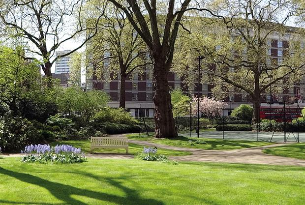 Gavin Jones' work at Portman Square - image: BALI