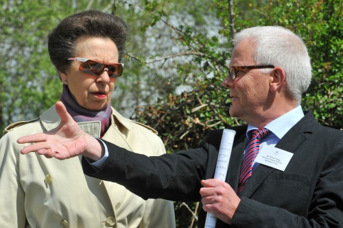 HRH Princess Anne with Patrick Cregg - image:Woodland Trust