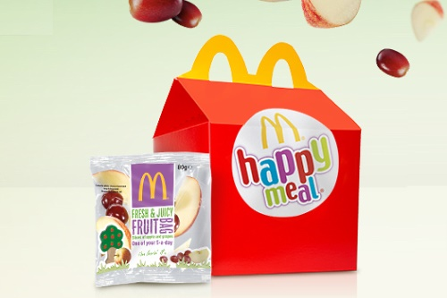 Happy Meal and Fruit Bag - image: McDonald's
