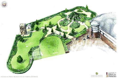The Cavasse scheme with Chelsea show garden included