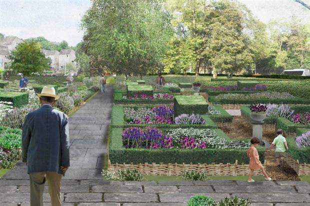 The physic garden re-imagined. Image copyright J&L Gibbons