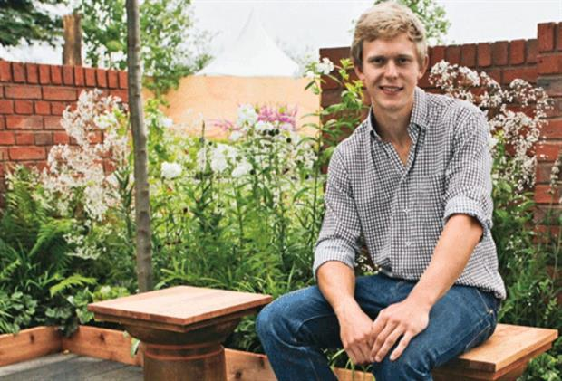 Former RHS young designer of the year, Hugo Bugg - image: RHS