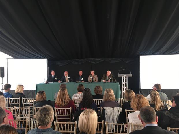 Wayne Grills, Jon Wheatley, Andy Sturgeon, Nicola Spence and Peter Seabrook at Majestic Trees' xylella symposium