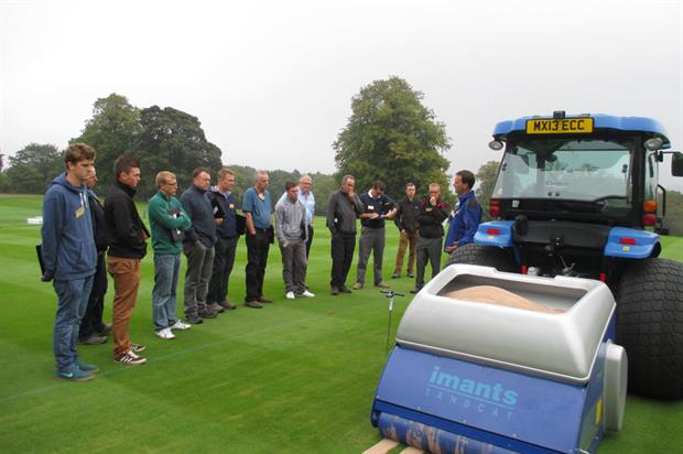 Imants SandCat: Designed to improve drainage and aeration on fine turf and greens - image: Campey Turf Care
