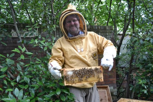 James Myers head gardener of Lillington and Longmoore estate and bees