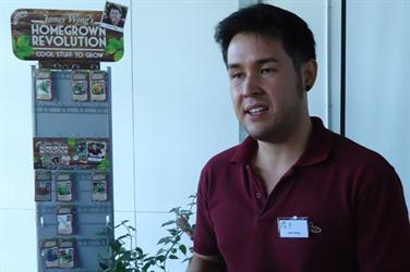 James Wong launching the Homegrown Revolution seed range in 2012