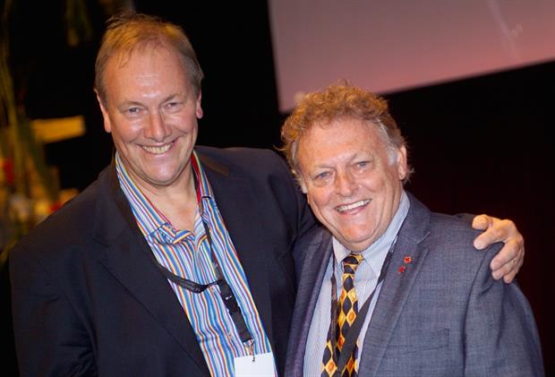 Jim Gardiner with Michel Gauthier from the North American Gardens & Tourism Coalition