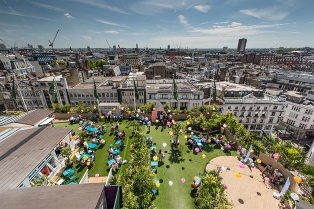 28386fd4bbde Subtropical roof garden opens in London's Oxford Street ...