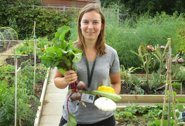 Regent's Park Allotment Garden volunteer coordinator Julie Riehl