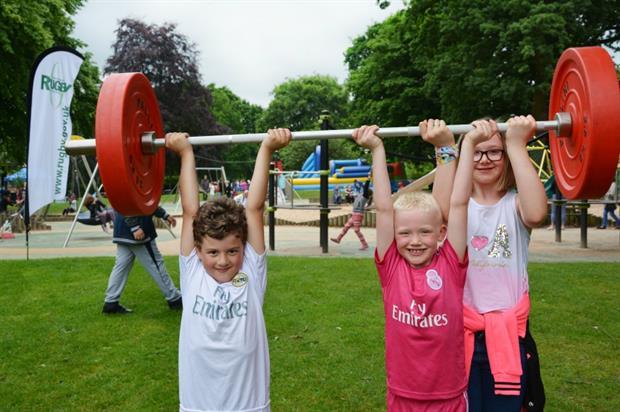 Forum member Rugby Borough Council incorporates exercise into play. Image: Rugby Borough Council