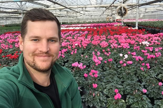 Student, Kobus Stander, who won a £2,000 South West Growers Show (SWGS) Sponsored Scholarship - image: David Colegrave Foundation