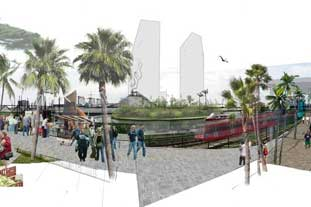 Artists impression of the revamped Lea River Park – photo: 5th Studio