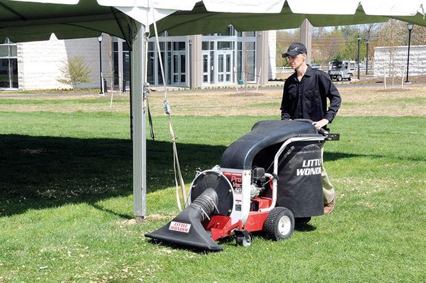 Little Wonder: ProVac SP litter and leaf vacuum has capacity to bag 180 litres of debris - image: Schiller Grounds Care UK