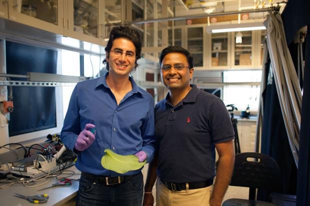 Varanasi (right) with co-author, MIT graduate student Maher Damak - Image: Melanie Gonick