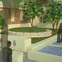 A computer generated image of the Memorial Garden
