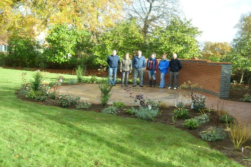 Tutors and students in the Mount Browne Memorial Garden